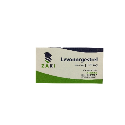 Levonorgestrel Zaki 0,75mg x 2 Tabletas