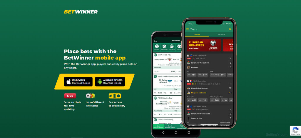 Betwinner Mobile App - Android & iOS - BettingY.com