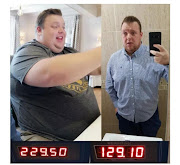 Photos of Francois Steyn before and after his body transformation.