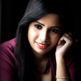 Confident Smile by Rajib Chatterjee - People Portraits of Women