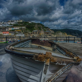 The Boat by Cornish Nige  - Transportation Boats ( sky, cloudy, hdr, row boats, sea )
