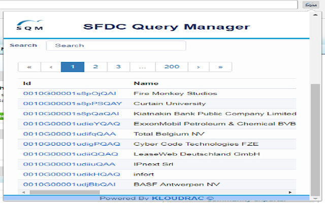 SFDC Query Manager