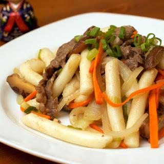 Ddukbokki (Korean Stir Fry Rice Cake).