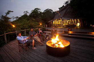 Photo: Around the campfire at Lango Camp - http://www.go2africa.com/accommodation/10014/at-a-glance/lango-camp?utm_source=GooglePlus&utm_medium=Social&utm_campaign=Congo