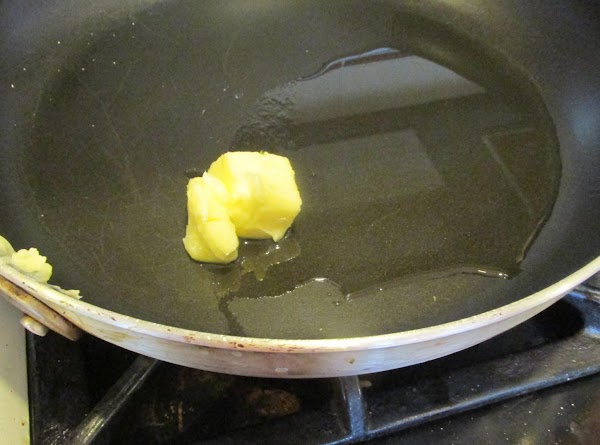 While potatoes are cooking add butter and olive oil to a large skillet and...