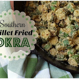 Southern Skillet Fried Okra.
