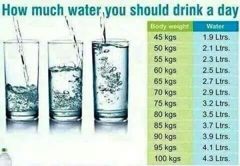 A Healthy Man How Many Liters Water Drink per Day - Calculations - Namaste  Kadapa