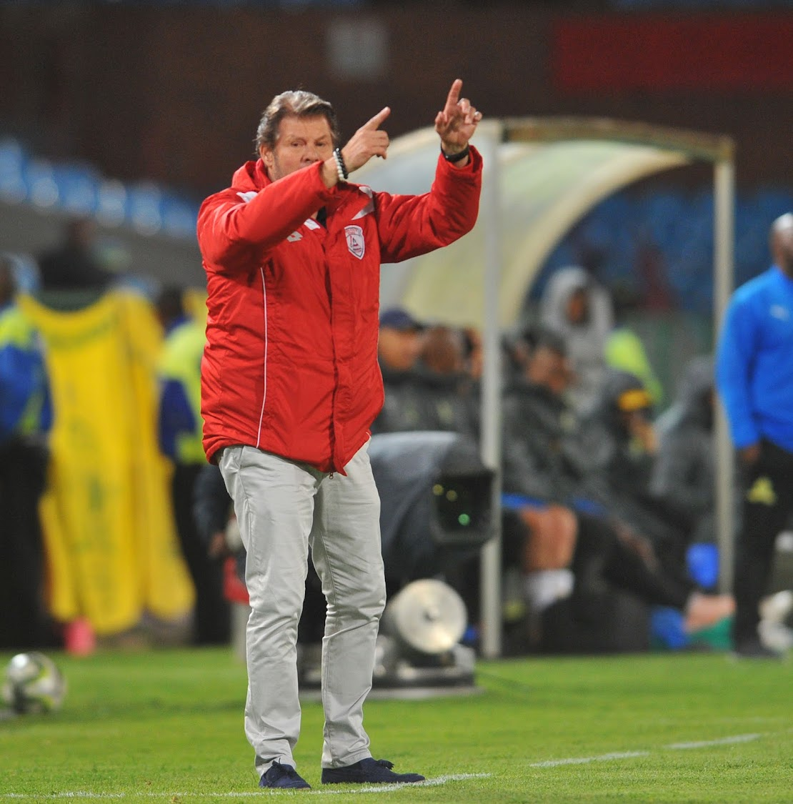 Free State Stars head coach Luc Eymael found himself caught on the wrong side of the law.