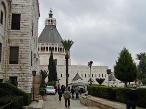 Photo: A view back towards the Basilica as we left Nazareth
