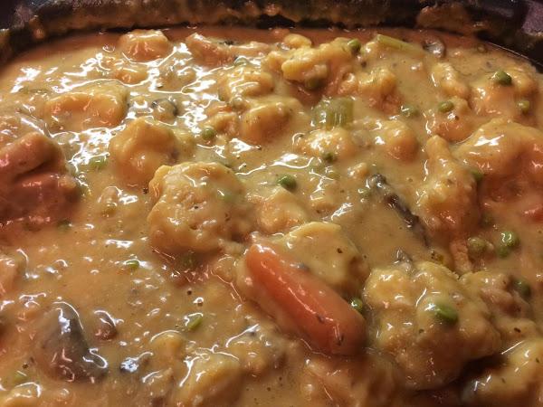 Texiental Chicken Mushroom Stew With Dumplings Recipe