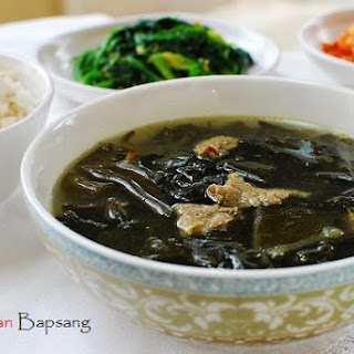Miyeok Guk (Beef Seaweed Soup).