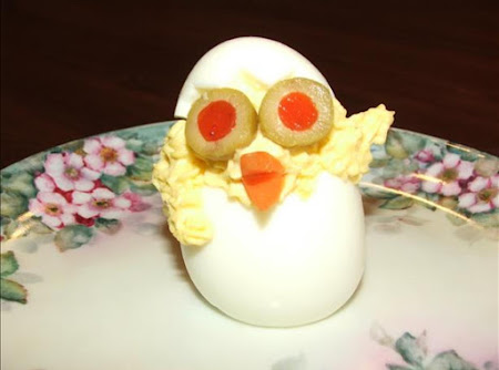 Easter ~ Spring Deviled Egg Chicks! Recipe