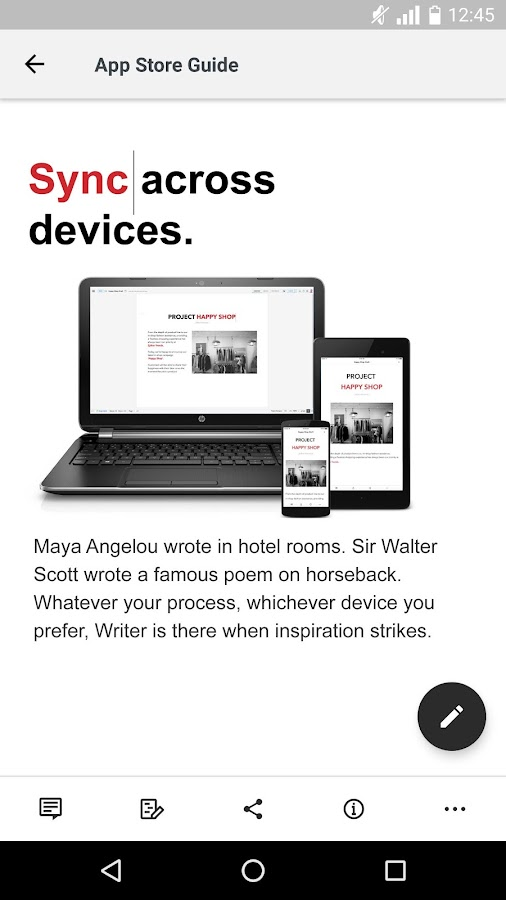 Writer - Write, Discuss, Sync- screenshot