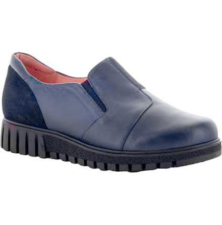 Signe marin loafer med resårer och mockadetaljer