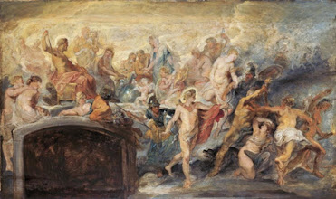 Photo: Peter Paul Rubens, The Council of Gods (Sketch for the Medici Cylce), 1622