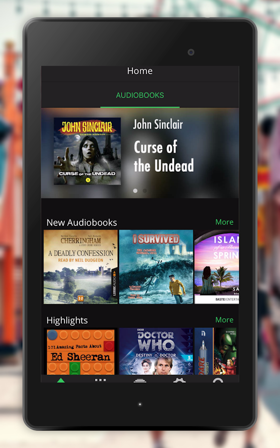 The Top Audiobooks on Spotify and Deezer