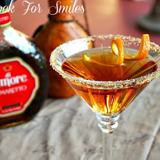 Amaretto Peach Martini.