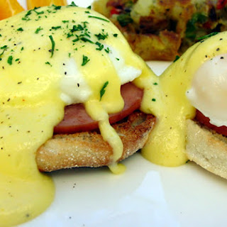 Eggs Benedict with Hollandaise Sauce.