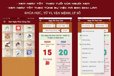 App Xem Ngay Tot, Xem Ngay Tot Xau, Lich Ngay Tot 2020 APK for Windows Phone