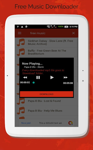 Free Music Downloader - Mp3 Download  screenshots 4