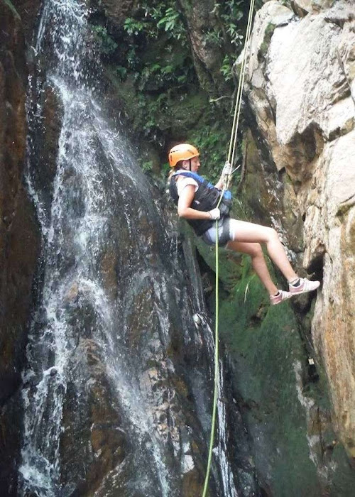 Canyoning in Da Lat Vietnam Solo Woman