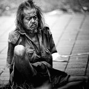 life's hard by Mankjay Dananjaya - People Portraits of Men ( senior citizen )