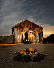 Photo: Light painting at an old mining camp in the Mojave Desert
