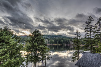 Photo: HDR of the lake and sky.