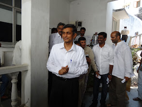 Photo: Dr. Jayprakash Narayan, National President, at the Polling Booth - GHMC Elections
