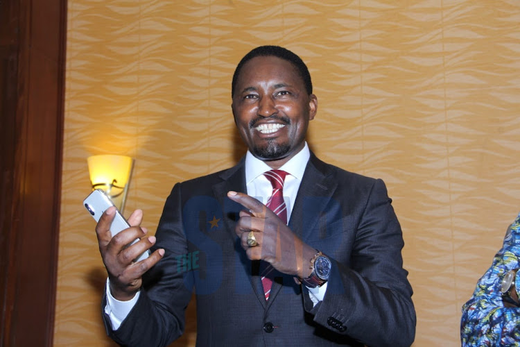 Former Agriculture CS Mwangi Kiunjuri during a press conference on January 14, 2020 ./EZEKIEL AMING'A