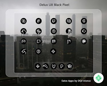 Delux Black Pixel - S9 Icon Pack 1.1.4 (Patched)
