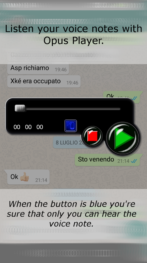 Opus Player  for WhatsApp- screenshot