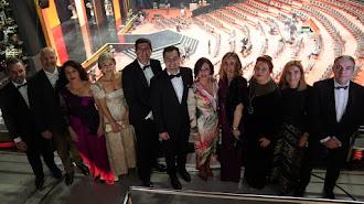 El presidente de la Junta de Andalucía, consejeros y consejeras y la presidenta del Parlamento en los Premios Goya.