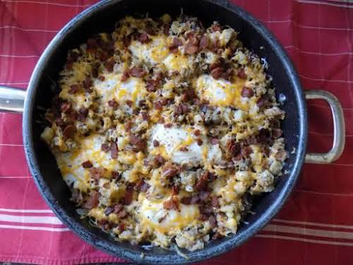 """Sausage Skillet Supper""""I made little changes to an existing friend's breakfast skillet..."""