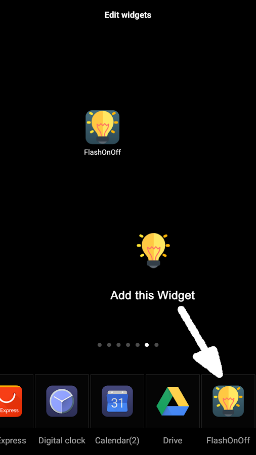 Flash Light OnOff Widget- screenshot