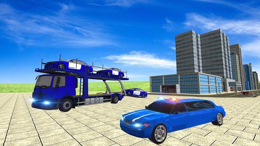 Coche de limusina de la policía estadounidense: capturas de pantalla del juego ATV Quad Transporter 6