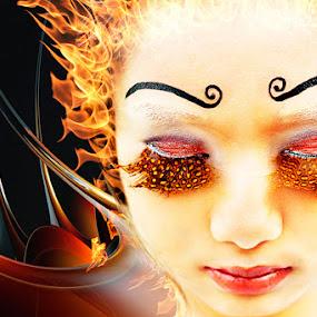 Fire by Coco Bordeos - People Fine Art