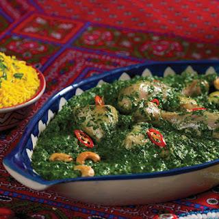 Chicken Palak Makhni.
