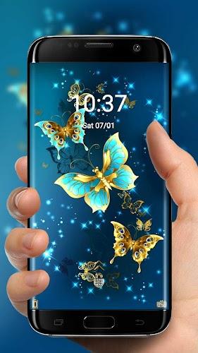 Download Golden Butterfly Theme Lock Screen Apk Latest