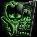 Black Green Crystal Apple Theme APK