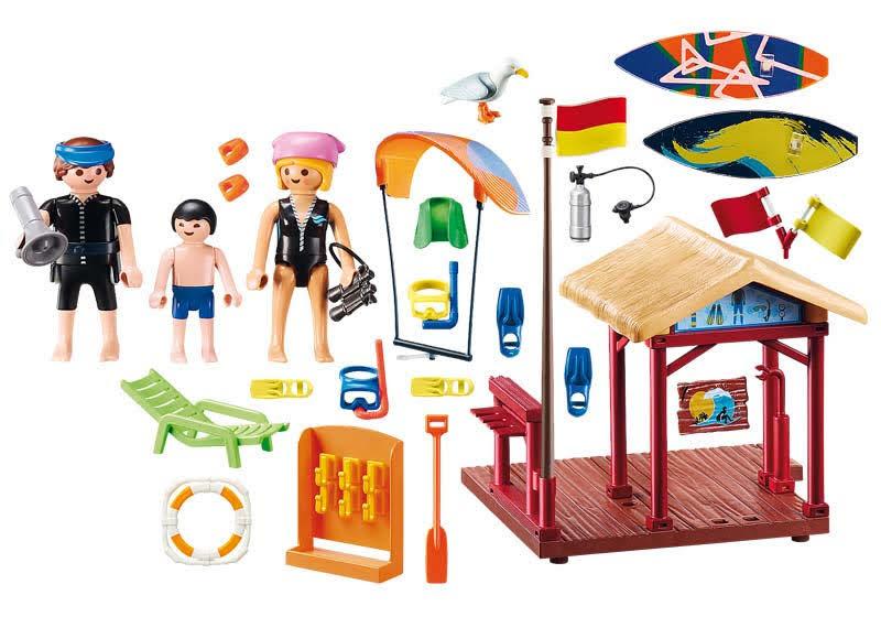 Contenido real de Playmobil® 70090 Clase Deportes de Agua