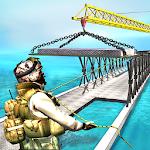 Army Truck Bridge Building 3D Icon