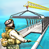 Army Truck Bridge Building 3D