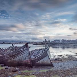 Salen Wrecks by Ian Pinn - Transportation Boats ( wreck, salen, ruins, decay, mull, boat, scotland )