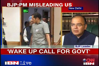 Photo: PM in denial mode over state of economy, says Arun Jaitley http://t.in.com/7raX