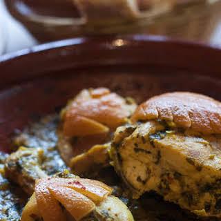 Chicken tagine & Moroccan salads.