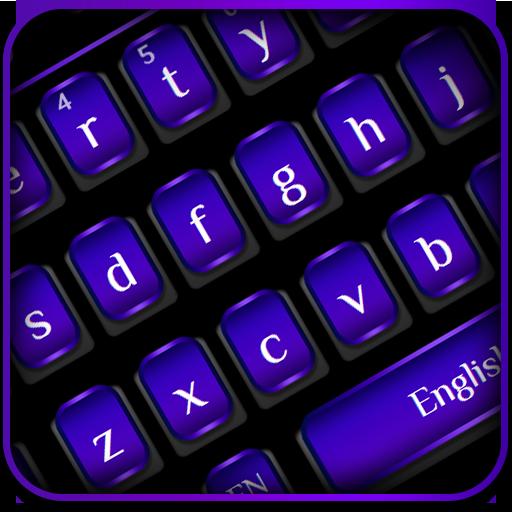Cool Black Purple Keyboard