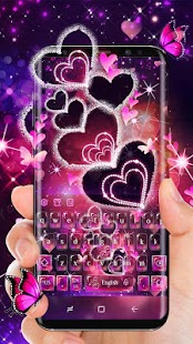 Sparkling Heart Keyboard Theme - náhled