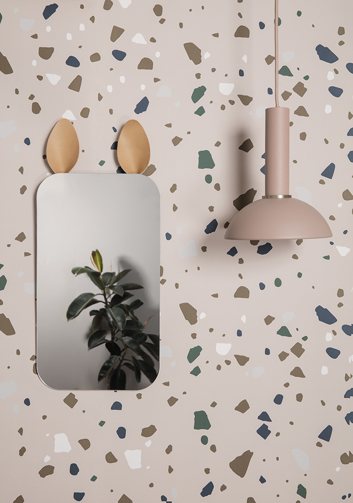 Palladiana terrazzo wallpaper by Ferm Living.