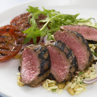 Grilled Lamb with Orzo Salad